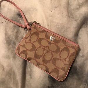 Coach Poppy Collection - Small Leather Wristlet